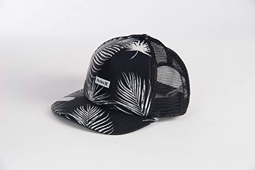 Hurley W OAO Small Box Trucker Hat Gorra, Mujer, Black Palm, 1SIZE