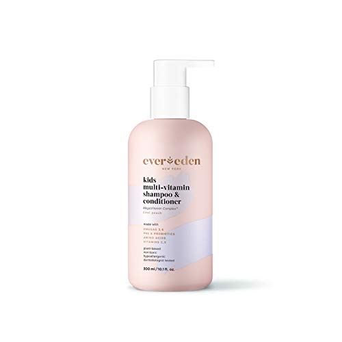 Evereden Kids Shampoo and Conditioner: Cool Peach, 10.1 fl oz. | Plant Based and Natural Kids Skin Care | Clean and Non-toxic | Multi-Vitamin Skin Care for Kids