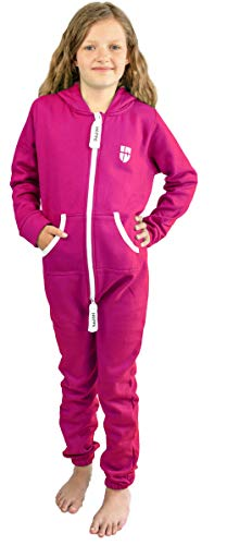 Gennadi Hoppe Gennadi Hoppe Kinder Jumpsuit Overall Jogger Trainingsanzug Mädchen Anzug Jungen Onesie,pink,3-4 Jahre