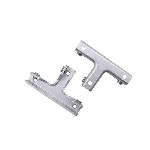 NUZAMAS - Juego de 2 abrazaderas de cristal en forma de T, escaparate, acuario, gabinete, soportes de soporte de aleación de aluminio, para vidrio de 6 a 10 mm de grosor