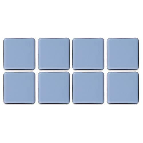 Filzada® 8x Almohadillas de Teflón para Muebles autoadhesivo - 30 x 30 mm (cuadrado) - Deslizadores profesionales de muebles/deslizadores de alfombras PTFE (Teflón)