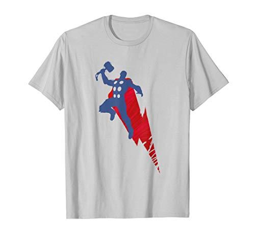 Marvel Avengers Game Thor Mjolnir Silhouette T-Shirt