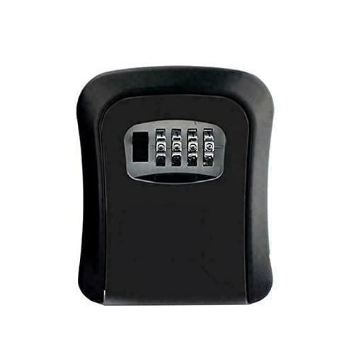 OhhGo Caja de seguridad para llave de combinación de 4 dígitos al aire libre montada en la pared caja de almacenamiento