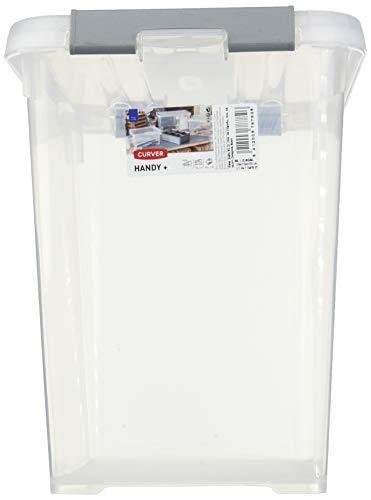 Allibert Aufbewahrungsbox Praktische, Plus mit Deckel 9l in transparent/Silber