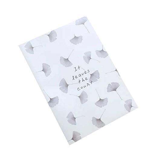 HLD [2 libros sin daños oculares 64/128 páginas A4 cuadernos pequeños de goma fresca para estudiantes de esta clase con cubierta de goma gruesa y ampliada