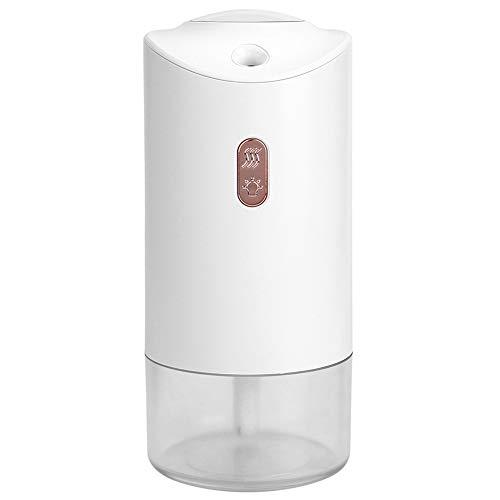 Auto Luftbefeuchter, geräuscharm Zwei Sprühmodi Mini-Luftverteiler, mit Projektion Umgebungslicht für Home Living Toom Baby Room Office(White)