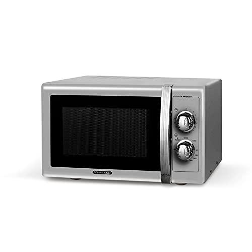 Schneider SMW25VMS - Microondas con Grill, 900 W de Potencia, Grill de 1000 W, 25 litros, 6 Niveles de Funcionamiento, Diseño Vintage