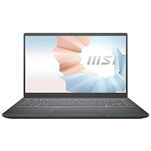 "MSI Modern 14 Professional Laptop: 14"" IPS-Level Thin Bezel Display, Intel Core i5-1135G7, Intel Iris Xe, 8GB RAM, 512GB NVMe SSD, Win10, Carbon Gray (B11MO-207)"
