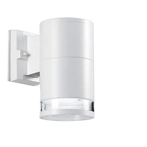 Aplique de aluminio Gea Led Ges061 Ges071 Ges251 LED IP54 lámpara de pared moderna monoemisión exterior E27, blanco y gris