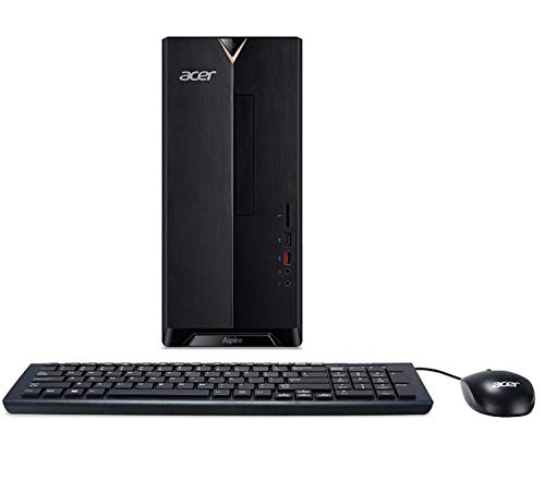 Acer Aspire TC-780 Desktop | Intel Core i5-7400 Quad-Core 3.0 GHz | 16GB DDR4 RAM | 256GB SSD Boot + 1TB HDD | DVD-RW | Included Keyboard & Mouse | WiFi | HDMI | Bluetooth | Card Reader | Windows 10