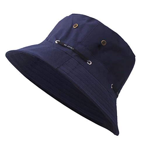 Bokeley Unisex Sun Hat, Outdoor Sun Hat Travel Casual Pot Bucket Hat Summer UV Protection Sun Caps (Navy)