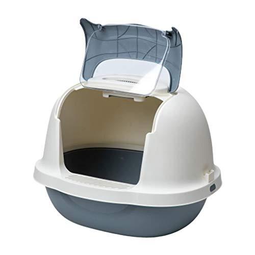 Mysida Cat Litter Box Arena for Gatos con Capucha Caja con Puerta abatible Claro, Completamente Cerrado Prueba de Salpicaduras Aseo Desodorante Mascotas (Size : XL)