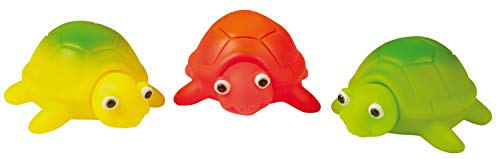 HEITECH LED Badespielzeug für Baby & Kinder - Schildkröte Badetiere leuchtend im 3er Pack - Leuchtendes & schwimmendes Badewanne Spielzeug, Badewannen Wasserspielzeug, Badewannenspielzeug Wasser