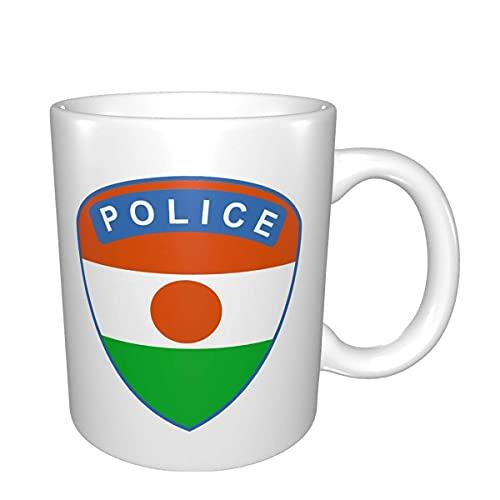 Flagge von Niger Polizeibecher Home Office Kaffeetasse Geeignet für Tee Kakao Getreide