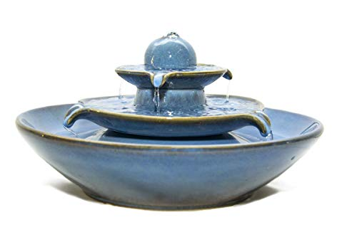 seliger Keramikbrunnen Pisa blau