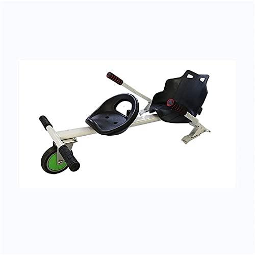 Gmjay Accesorios para Karts Hoverboard de Dos Asientos Ajustables para Scooter Autoequilibrado de Dos Ruedas - Compatible con Todos Los Hoverboards,White