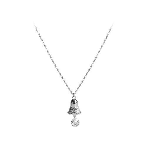 Likass Ms. 925 Sterling Silver Necklace Silver Pendant, La Mejor Opción para El Día De San Valentín, Regalo De Año Nuevo, Recuerdo De Aniversario,Símbolo De Amor-Campana Linda