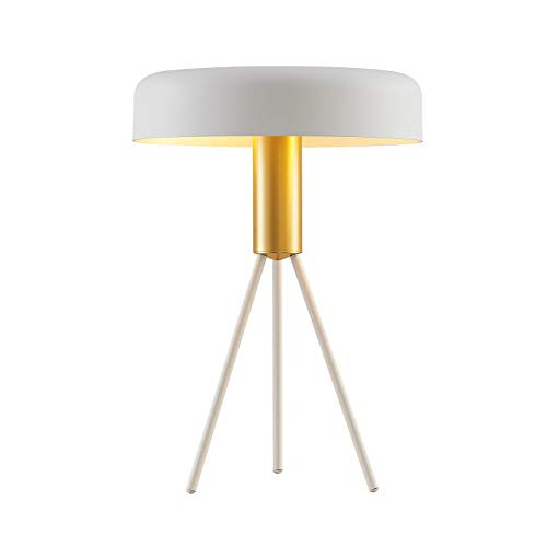 Lámpara de mesa 'Filoreta' (Diseño) en Blanco hecho de Metal e.o. para Salón & Comedor (2 llamas, E27, A++) de Lucande | lámpara de mesa de diseño