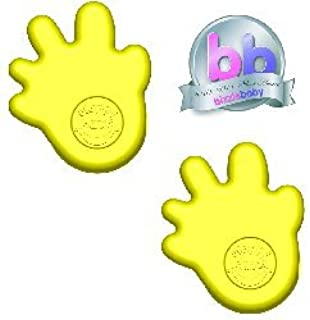 Happy Hands Anti Slam Child Door Safety Finger Trap Stoppers - 2 Pack (Yellow)