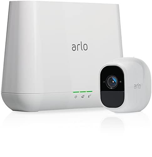 Arlo Pro 2 | Caméra de surveillance Wifi Sans fils - Pack de 1, batteries rechargeables, Alarme 100 dB, Son bidirectionnel, 1080p Jour et Nuit, Étanche IP65 Intérieur/Extérieur (VMS4130P)