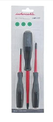 INTERCABLE Juego DE Giratorio Futur II 1 Destornillador Phillips PZ0x60, Destornillador Phillips PZ1x75 Slim, 1 Destornillador Phillips PZ2x100 Slim 1399004