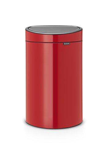 Brabantia Poubelle Touch Bin, 40 litres, Passion Rouge, Capacité 40 Litres, 72,7 cm x 47,5 cm x 30,2 cm