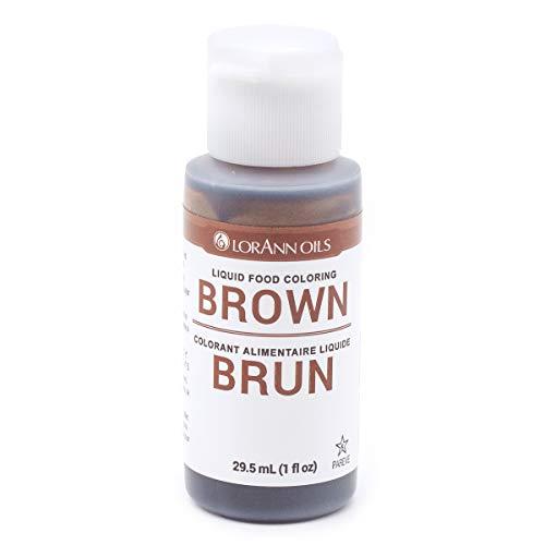 Lorann Oils Liquid Food Color 1oz-Brown