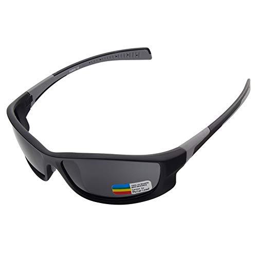 SSDAOO Fahren Polarisierte Gläser Bergsteigen Radfahren Gläser Anti-UV-Sportbrille Multifunktions-Rad-Gläser,Grau