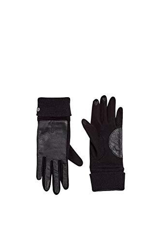 ESPRIT Accessoires Damen 109EA1R003 Handschuhe, Schwarz (Black 001), Large (Herstellergröße: L)