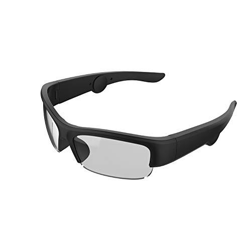 TJ Frames: Gafas de Sol con Audio con Auriculares Abiertos, Gafas de Sol Inteligentes, Gafas de Sol Deportivas con Lentes UV400 y conectividad Bluetooth (tamaño: 148 mm Grande)
