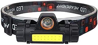 Laoonl Hoofdlamp, led-hoofdlamp, oplaadbaar, USB, krachtig, verstelbaar en licht, waterdicht voor hardlopen, kamperen, fie...