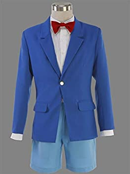 GONG Cosplay Detective Conan Suit Cosplay Costume Conan Edogawa Jimmy Kudo Uniform COS Clothing Holiday Party Costume  Color   SET1 Size   2XS