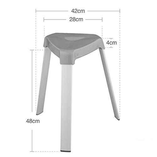 GBXX Mode Kreative Kleine Möbel Anti-Slip-Hocker Einfache und stilvolle Multifunktions-Freizeit-Hocker Kunststoff Esszimmerstuhl Sitzhocker eine Vielzahl von Farben Multifunktions-Haushalt kreativ,ro