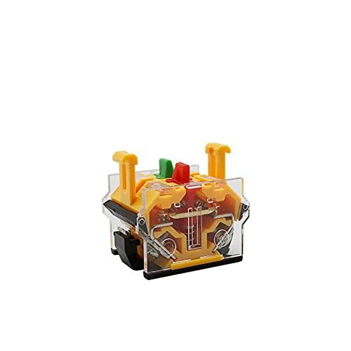 Botón LA38-11Y / 2 LA38-20Y / 3 22mm Selector de la tecla de Bloqueo Giratorio Securador de Llave de Bloqueo 2 3 Posición 1NO1NC 2NO con 2 Teclas Cierre del botón pulsador (Color : 1NO1NC)