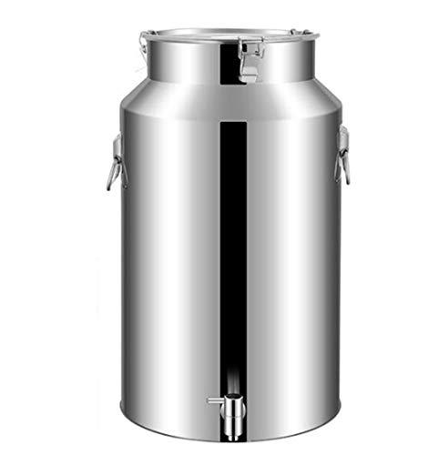 JSHFD Fermentador Cervecero Cervecero Latas Selladas de Acero Inoxidable Cubo de Leche con Grifo Hogar Cocina Restaurante Contenedor de Almacenamiento de Aceite (Color : Silver, Size : 14L)