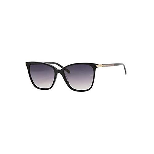 Ana Hickmann AH9271 A01, Gafa de Sol Forma Ojo De Mariposa Para Mujer, Color Negro Con Protección UV400