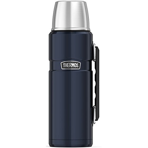 THERMOS Stainless King Beverage Bottle, 40 Ounce, Midnight Blue