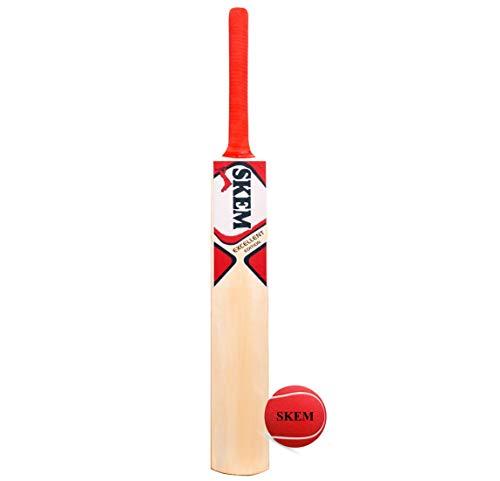 Kansal Traders M_F Genius Virat Kohli Popular Willow Cricket Bat with Ball (Size-6)