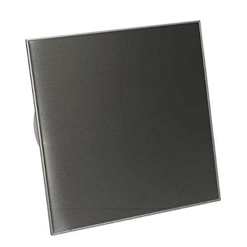 WTI Badkamerventilator, ventilator, plafondventilator, roestvrij staal, voorkant, Ø 125 mm, 12,5 cm, wandventilator, inbouwventilator, badkamer, keuken, stille kamerventilator, afvoerlucht, standaard