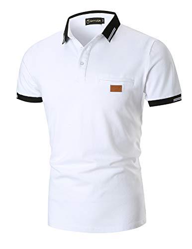 YIPINEU Mode Polo Homme Manches Courtes Casual Couleur de...