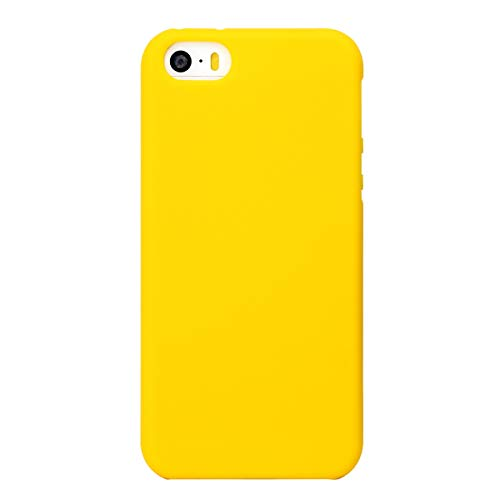 MUNDULEA Matte Case Compatible iPhone 5/iPhone 5s/iPhone SE (2016 Edition),Shockproof TPU Ptotective Cover Compatible iPhone 5s (Yellow)