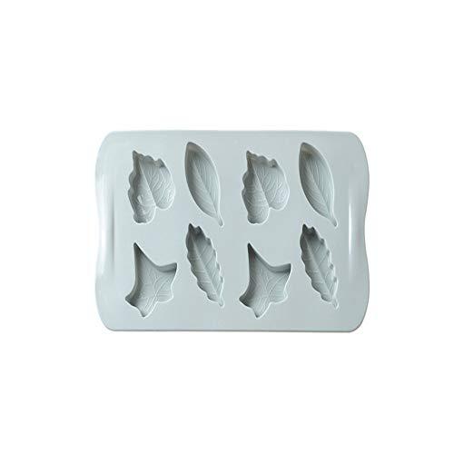 2 verpakkingen siliconen chocolade schimmel anti-aanbaklaag chocolade taart topper gummy ijs boter maken kit verschillende vormen van bos thema bladeren schattig en kind leuk