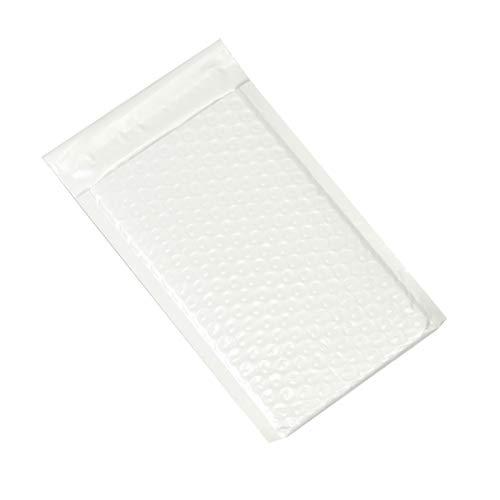 アースダンボール クッション封筒 ネコポス 長3封筒 白 シール付き 防水 100枚 【130×250mm】【2732】