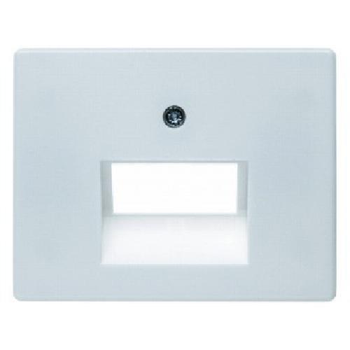 Preisvergleich Produktbild Hager ARSYS Zentralplatte für Doppelstecker weiß Polar