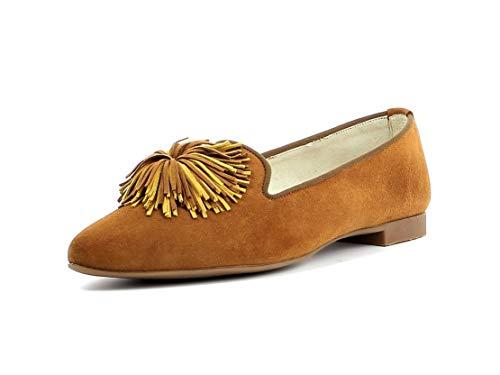 Paul Green Damen Mokassins 2531, Frauen Slipper, Schuh Loafer businessschuh weibliche Lady Ladies feminin Women,Caramel/Marigold,40 EU / 6.5 UK