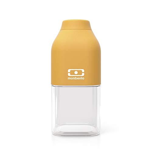 monbento - MB Positive Trinkflasche bpa frei - Tritan Trinkflasche (S (330ml), Gelb Mustard)