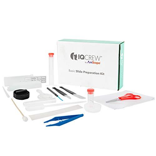 AmScope IQCrew - Kit de preparación para microscopio (35 piezas)