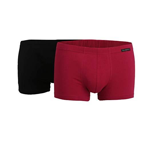 bugatti Herren Pants, Unterhose - Baumwolle, Single Jersey, rot Uni, 2er Pack 5