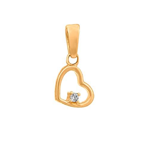 Goldanhänger Kettenanhänger Gold Gelbgold 333 8K Halssmuck Anhänger Herz Zirkonia für Damen Mädchen Jungen