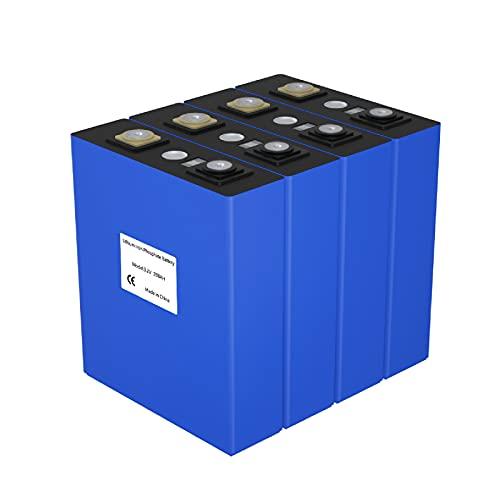 Ninthcit 4PCS LiFePO4 3.2V 200Ah Lithium Batterie Boot, Camping oder Solar Brandneu Klasse A- EU-Lager - 7 Werktage Lieferung